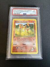 1st Edition Blaines Charmander 61/132 Gym Heroes WOTC PSA 9 MINT Pokemon Card