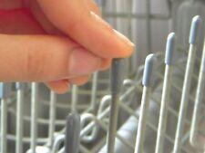 10 Universal Gray Dishwasher Rack Tip Tine Cover Cap      Just Push On to Repair