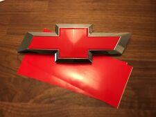2 Silverado Gloss Red Universal Chevy Bowtie Vinyl Sheets Emblem Overlay