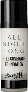 Barry M Cosmetics All Night Long Full Coverage Liquid Foundation   Chantilly  