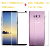 9H Tempered Glass Screen Protector Back PET Film For Samsung Galaxy Note 8 9/S9