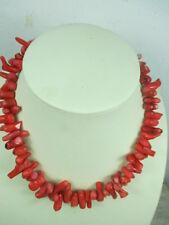 Strang echte Koralle, 47cm Kette, bis 2,5 cm Natur gewachse Äste rot Halskette C