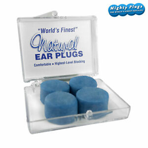 Mighty Plugs TWO pair TRAVEL pack World's Finest Earplugs Soft Natural Ear Plugs