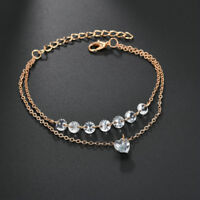 Charm Fashion Multilayer Rhinestone Crystal Bracelet Bangle Women Cuff Jewelry
