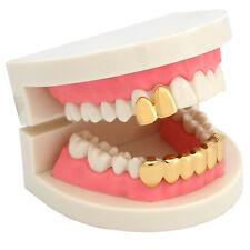 e4c78b9b7f7b 14k oro PT Hip Hop Gorra de dientes pequeños de dos solo Parrilla dientes  inferior Grillz