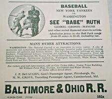 BABE RUTH 1934 New York Yankees vs Washington-Ruth, Gehrig, Cronin- Green Poster