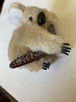 "CLIP ON KOALA BEAR with BOOMERANG 2"" Plush Souvenir Toy Doll New"