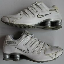 Nike Shox NZ Running Shoes 366571-111 Sneakers White Leather Women' US 8