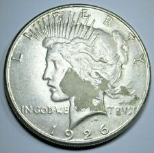 1926-S US Peace Silver $1 Dollar Antique Old Currency Lady Liberty Money Coin