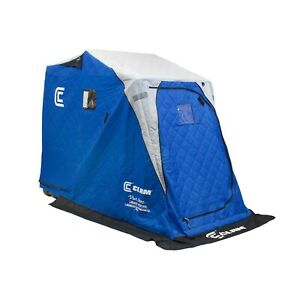 CLAM 12564 Legend XL Thermal 1 Person Angler Ice Fishing Shelter Tent with De...