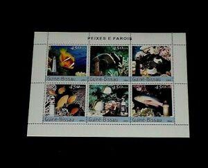 TOPICAL, 2004, MARINE LIFE, GUINEA, FISH, SHEET/6, LOT #163, MNH, LQQK