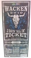 + Wacken 2010 - altes Konzert-Ticket - 21 Years 3 Days - Nr. 32801 für Sammler +