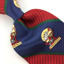 JOHN ASHFORD THE SATURDAY EVENING POST TIE Christmas Red Silk Necktie N4-207 New