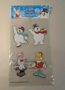 Lot of 6 FROSTY THE SNOWMAN New Window Holiday Gel Clings Stickers Christmas