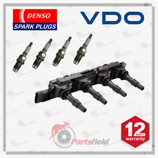 VDO Ignition Coil + Denso Spark Plugs fits Holden Astra TS 1.8L X18XE Z18XE