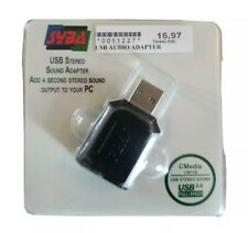 SYBA SD-CM-UAUD USB 2.0 External Stereo Audio Adapter (PC) (MAC OS 10) (LINUX)