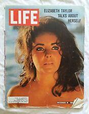 LIFE Magazine December 18, 1964; Elizabeth Taylor Talks About Herself-RARE FIND!