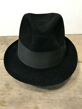 Vintage Schoble black fedora, 7 1/8 - 7 1/4