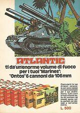 X0930 Atlantic - Ontos 6 cannoni da 106 mm - Pubblicità del 1976 - Vintage adv.