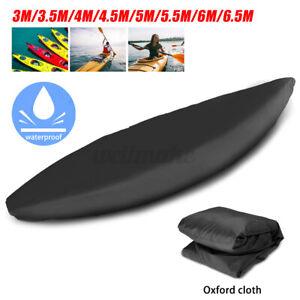 Black Kayak Cover Canoe Boat UV Resistant Dust Storage Waterproof Cover Shield