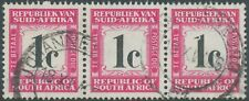 SOUTH AFRICA 1961 postage due stamp 1 C superb used strip of three MAJOR VARIETY