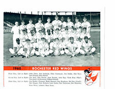 1960 ROCHESTER RED WINGS TEAM PHOTO WAGNER WASHBURN  BASEBALL NEW YORK