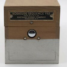 Vintage Wooden Kodaslide Sequence File Box Eastman Kodak Company Usa