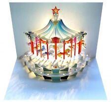 Pop Up 3D Karte Kinder Geburtstagskarte Geburtstag Gutschein Karussell 16x11cm