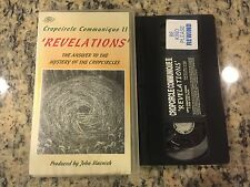 CROPCIRCLE COMMUNIQUE II 2 REVELATIONS RARE VHS! NOT ON DVD 1994 UFO DOCUMENTARY
