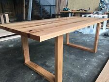 Handmade Blackbutt Hardwood Dining Table Timber Loop leg Melbourne