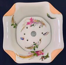 Rare Antique 1880s Haviland Limoges Butter Dish Meadow Visitor Napkin Fold Peach
