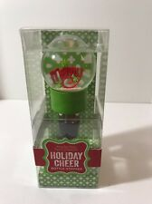 Merry Holiday Cheer Bottle Stopper Snow globe Two's Company New
