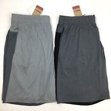 Reebok Men's Athletic Fitness Shorts w/ Pockets Med Large XL XXL Black Gray