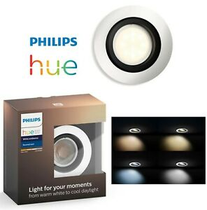 Philips Hue White Ambience Milliskin Recessed LED Smart Spotlight ALUMINIUM NEW