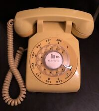 Vintage Western Electric / Bell System Telephone Yellow Rotary Desk Phone~DM500