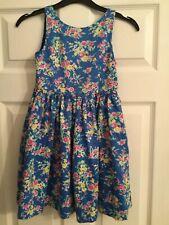 Polo Ralph Lauren Girls Blue Flower Pattern Dress-Age 6 Used