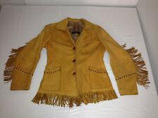 A.T. Hendrick 1950-60s Buckskin Leather Jacket Denver Co. Native Western Hippie
