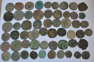 Lot 57 Byzantine bronze Follis many Anonymous FOR CLEANING 7-10th century AD