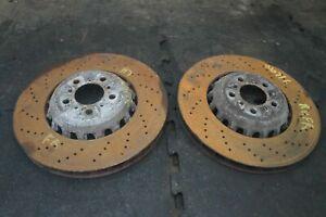 Set Front Left Right Disc Brake Rotor 34112284101 OEM BMW M5 F10 2012-16 M6 F12