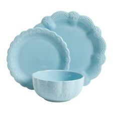 The Pioneer Woman Toni Light Blue Dinnerware Set, 12-Piece