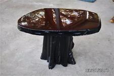 Cypress slab wood Table stand stump log base Primitive folk art adirondack *NICE