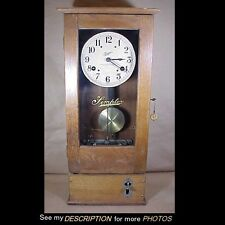 1931 Simplex Oak Time Recorder Wall Clock