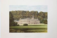 Shelton Abbey, Ireland. Antique Topographical House Print, Morris Country Seats