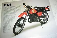 1981 Kawasaki KE175 Sales Brochure,Genuine NOS, 2Pages.