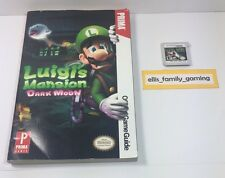 Luigi's Mansion Dark Moon Nintendo 3DS W/ Prima Strategy Guide Works Ships Fast