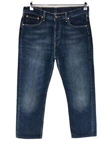 Vintage Levi 'S 501 Bleu Foncé Original Standard Jeans Coupe Droite Taille W34