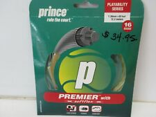 1 SET: PRINCE PREMIER 16 W/ SOFTFLEX (1.30) NATURAL MULTIFILAMENT TENNIS STRING