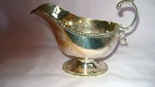 STYLISH ANTIQUE SOLID SILVER SAUCE BOAT CHESTER 1912  NATHAN & HAYES