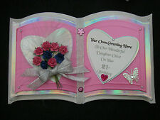 Customised ORIENTAL 3D OPEN BOOK Birthday Card SISTER 21 25 30 40 50 3D Roses SC