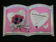 Customised ORIENTAL 3D OPEN BOOK Birthday Card SISTER 21 25 30 40 50 3D Roses SC